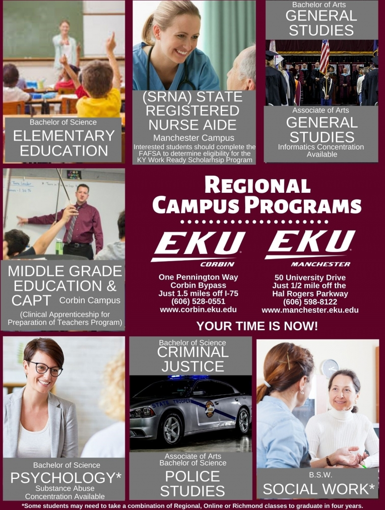 EKU Corbin and Manchester Programs