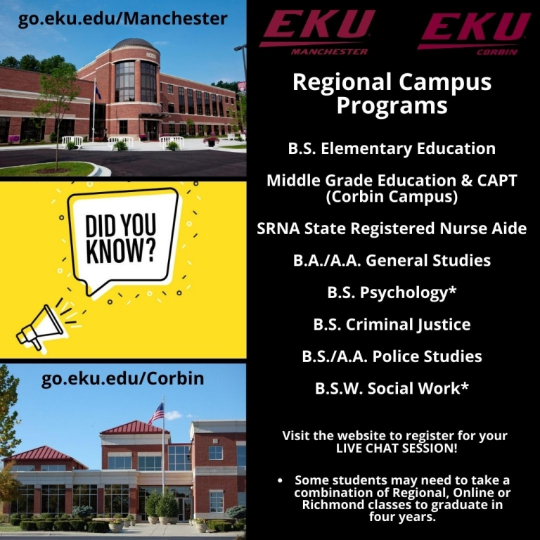 EKU Corbin/Manchester New Student Virtual Visits