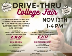EKU Corbin and Manchester to host Drive-Thru College Fairs