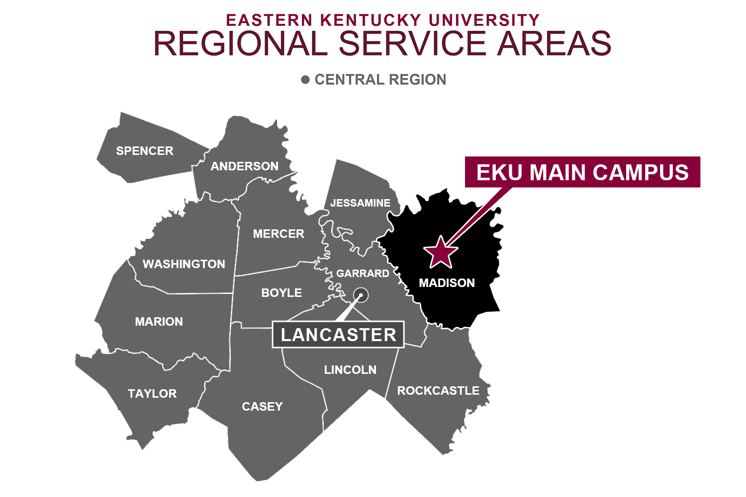 EKU Regional Service Area Central Region